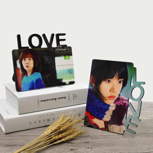 10 cái/lốc thăng hoa trống TỰ LÀM Bằng Gỗ khung ảnh tình yêu khung MDF ban cứng ảnh món quà in trang trí có khung tấm