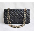Golandstar Vogue Gold Chain Plaid Design PU Leather Women Hobo Clutch Handbag Shoulder Tote Baguette Flip Cover Bag