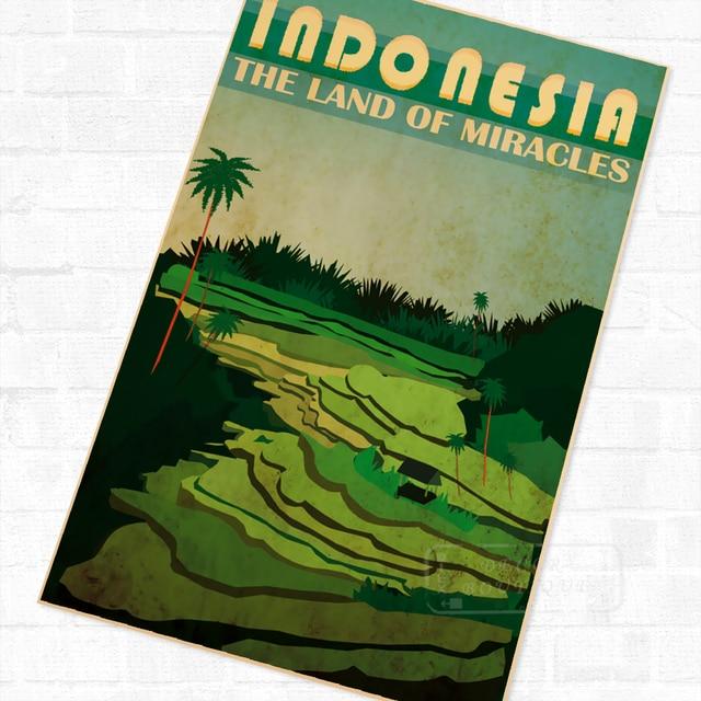 Garuda Indonesia Travel Retro Vintage Poster Decoration