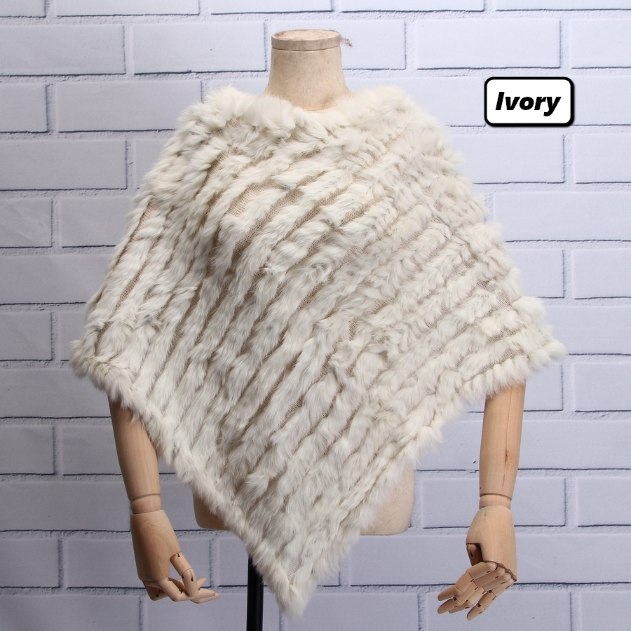 f0d36f2d1 Detail Feedback Questions about ZDFURS * Real Knitted Rabbit Fur Poncho  Wrap Pashmina scarves Female Party Pullover natural rabbit fur Shawl  triangle Cape ...