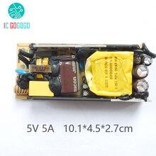 Ac dc 100 240ボルトに5ボルト5aスイッチング電源回路基板内蔵電源スイッチ供給モジュールacにdc 50ミリアンペア/60 hz smps