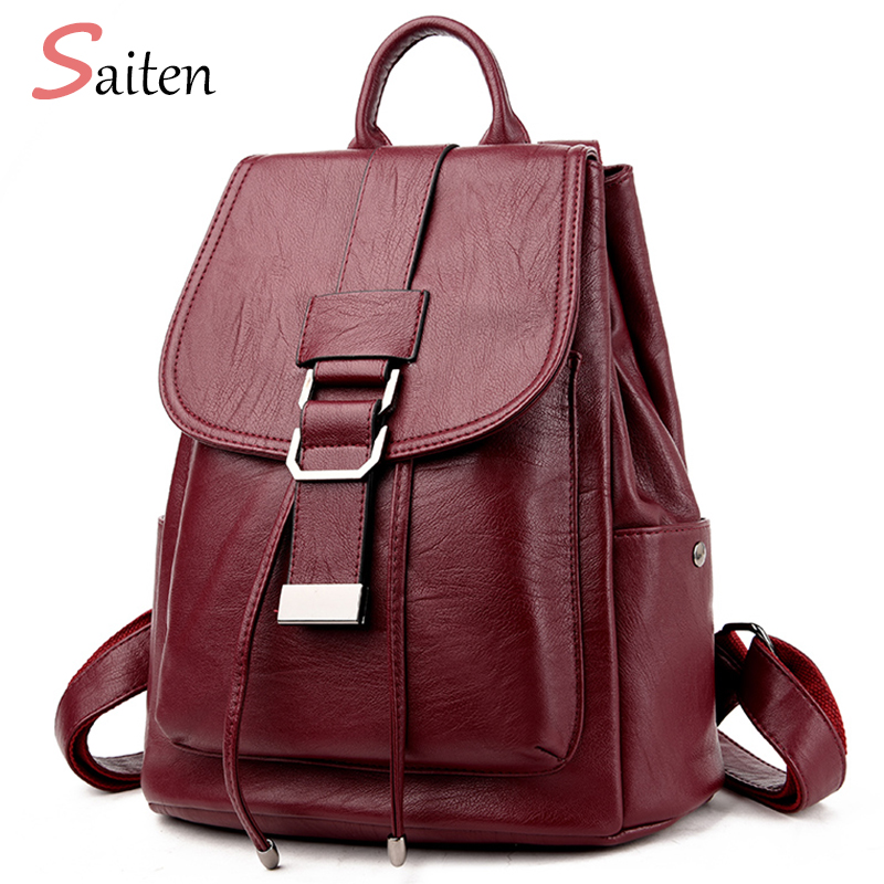 Women Backpack New Arrival 2017 Simple Casual School Bag Med