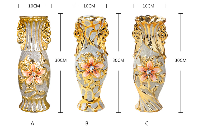 Gold Plated Ceramic Vase 5