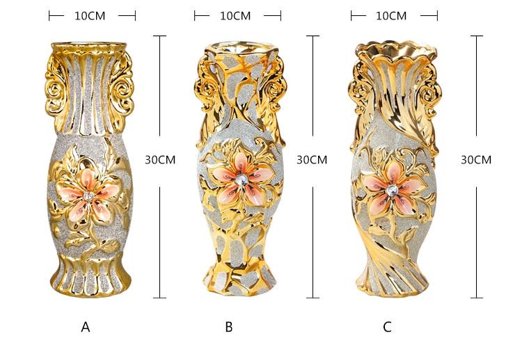 Gold Plated Ceramic Vase 5