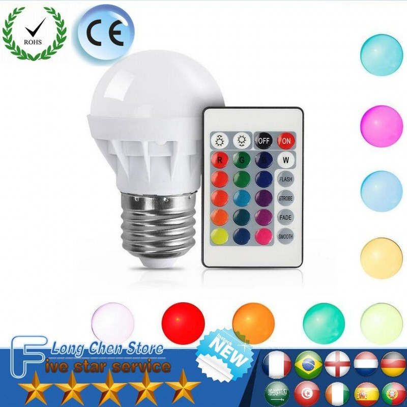 где купить LED1Pcs E27 12W 16Color Changing RGB Magic LED Bulb Lamp 85-265V/220V RGB Led Light Spotlight +24KEY IR Remote Control LED Bulbs по лучшей цене