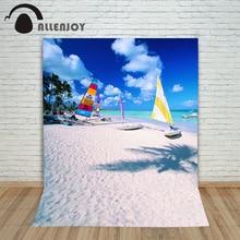 Allenjoy photographic background Boat Beach seaside Baiyun backdrops baby wedding photo scenic 150x200cm