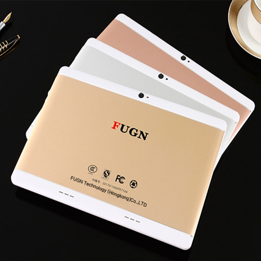FUGN 10 Inch Android Phone Call Tablet Octa Core 4GB Ram GPS Dual SIM 3G Network