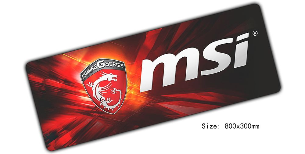 Fashion msi mouse pad High quality mouse mat laptop padmouse notbook computer 800x300x2mm gaming mousepad gamer play mats