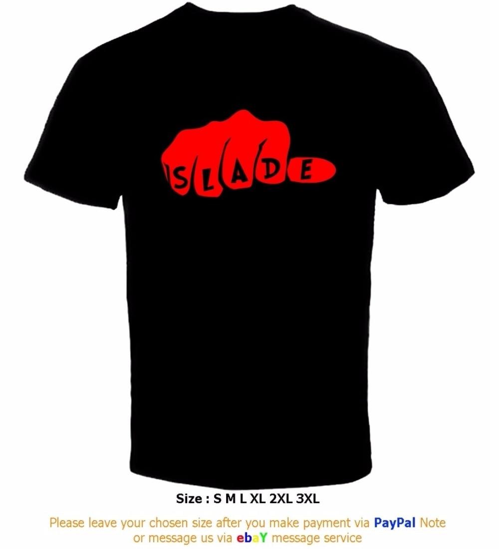 Black t shirt bulk - 2017 Hot Sale Super Fashion Man Print T Shirt Hipster Slade Fist Amuf Bulk T