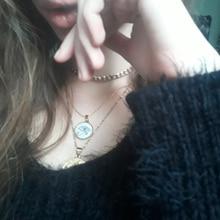 цена на HOBBORN Rah Egypt Eye of Horus Pendant Necklaces for Women Stainless Steel High Polished Pendant Evil Eye Shell Necklace Jewelry