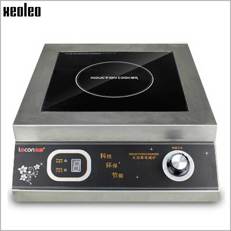 Xeoleo 5000W Commercial Induction cooker Stainless steel Electromagnetic oven Electromagnetic furnace For Hotel/Restaurant