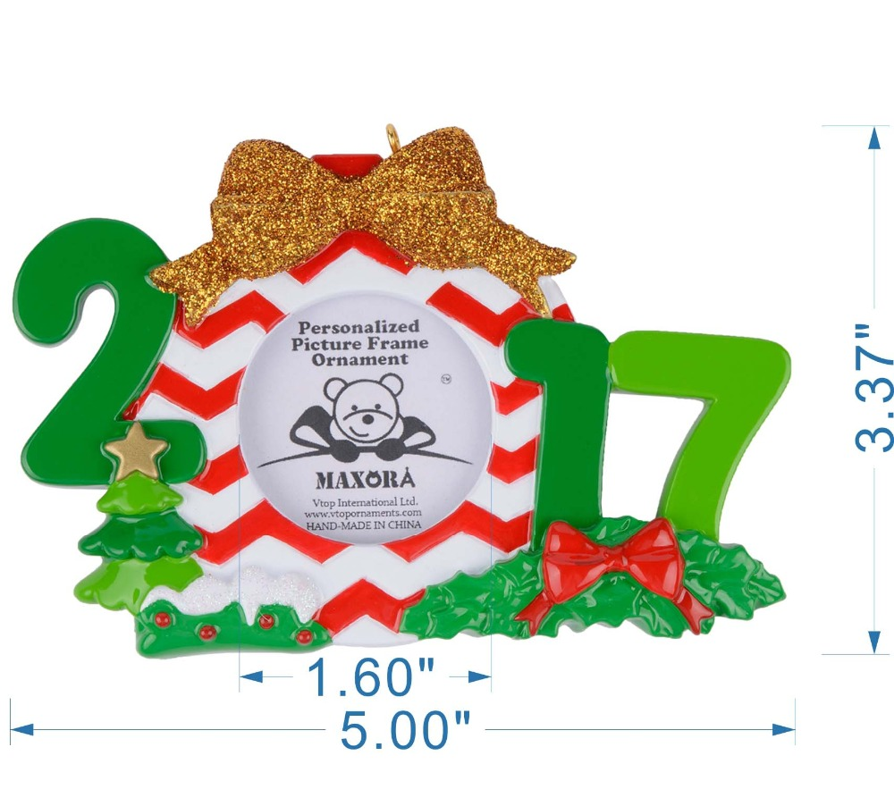 Wholesale Resin 2018 Picture Frame Christmas Ornaments Personalized