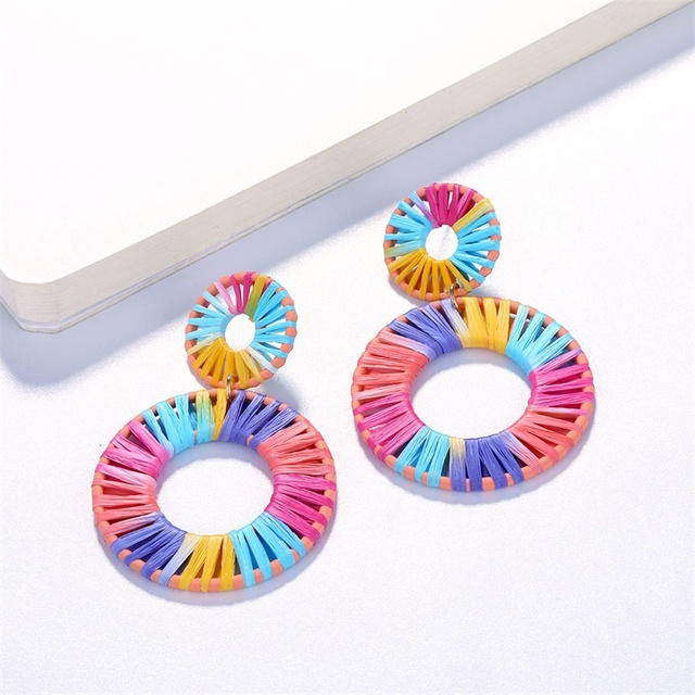 Colorful Bohemian Woven Earrings For Women