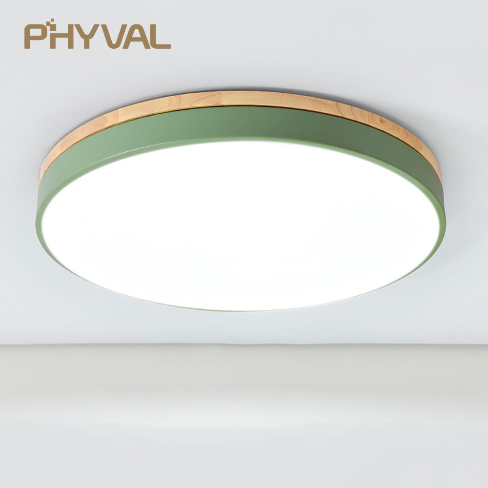 LED Ceiling Lamp Round 5cm Super Thin Surface Mounted Ceiling Light Living Room Bedroom Kitchen Macaroon