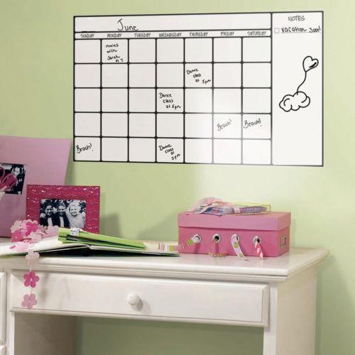 Removable Wall Sticker Magic Whiteboard Office Study Decor Vinyl Wall Sticker Erasable White Board