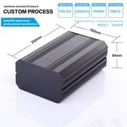 H33 160W94H mm/6.3 ''x 3.7'' wysokiej jakości wytłaczane profile aluminiowe pudełko na elektronikę