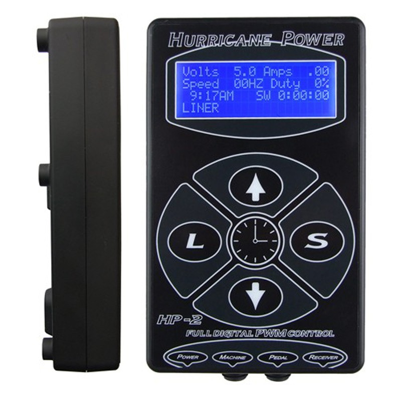 HURRICANE Tattoo Power Supply Upgrade Tattoo Machine HP-2 Intelligent Digital LCD Makeup Dual Power Tattoo Supplies Set