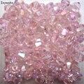 Venta Popular Rosa Colores 100 unids 4mm Bicone Austria Cristal encanto de Los Granos de Cristal Flojo de Los Granos Del Espaciador Del Grano de DIY Fabricación de la joyería