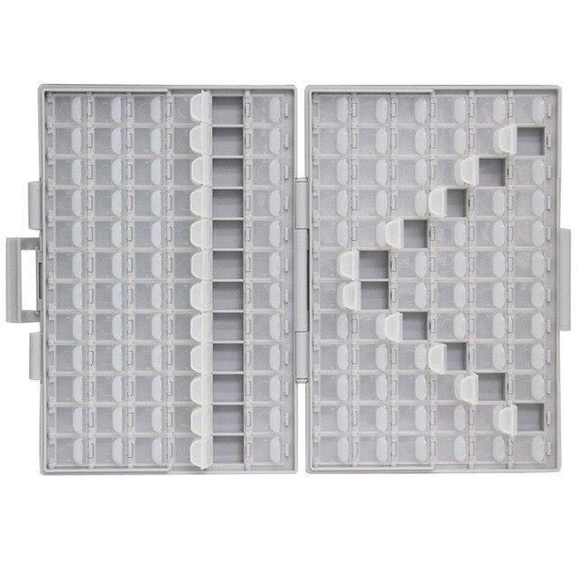 AideTek SMD storage SMT resistor capacitor Electronics Storage Cases & Organizers transparent toolbox storage box plastic BOXALL 1