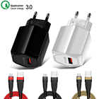 Quick Charge 3.0 Wall Charger QC 3.0 EU Plug Fast Charging Wall Universal Mobile Phone USB Charger Adapter For iPhone Samsung