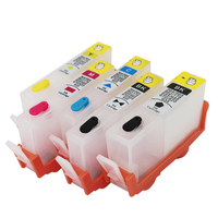 5 peças para hp178 178xl cartucho de tinta 178 tinta recarregável para hp photosmart d5400 d5463 c6380 c6300 c5300 c5383 impressora a jato tinta
