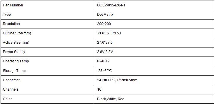 GDEW0154Z04-T参数表