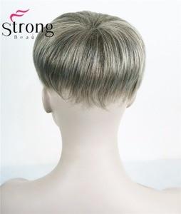 Image 3 - StrongBeauty tupé corto de pelo sintético para mujer, extensiones de cabello, opciones de color