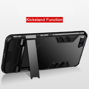 Image 5 - CAPSSICUM Mi6 Armor Case for XIAOMI MI6 PC+Silicone Hard Antiknock Shockproof Kickstand Back Cover Shell Stand High Quality