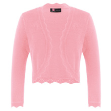 купить Ladies Bolero Shrug Women Cardigan  Casual Office Stretchy Solid Cropped Cardigan Knitted Tops по цене 651.96 рублей