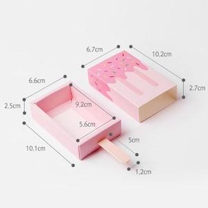 Image 5 - (50 יחידות\מארז) kawaii גלידת צורת סוכריות קופסות תינוק מקלחת יום הולדת אריזת מתנה לילדים של יום ילדים מסיבה טובות B062