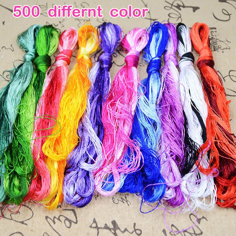 500 pieces silk embroidery Suzhou embroidery thread common color silk thread small sticks of hand embroidery