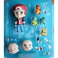 SGC A + Top Fashion Q-Versão Pokemon Go Ação & Toy figuras pode Mudar 3 tipos de Rosto Estatueta Colecionável Modelo brinquedo