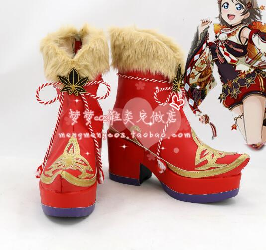 L oveLive!Sunshine Aqours Boots Cosplay Takami Chika ...