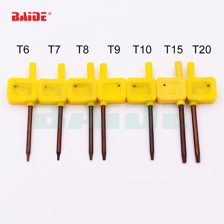 10PCS T8 S2 Flag Type Torx Handle Controller Wrench Wrench Wrench Screwdriver