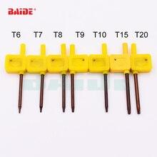 S2 Screwdriver T6 T7 T8 T9 T10 T15 T20 Yellow Flag Torx Key Screwdrivers Spanner Open Tools 200pcs/lot