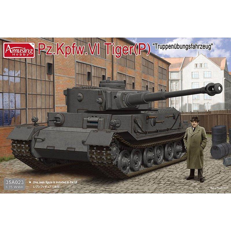 """Oyuncaklar ve Hobi Ürünleri'ten Modeli Yapı Setleri'de Eğlenceli Hobi 35A023 1/35 Alman Pz. Kpfw. VI Kaplan (P) Truppenubungsfahrzeug """"Ölçekli model seti'da  Grup 1"""