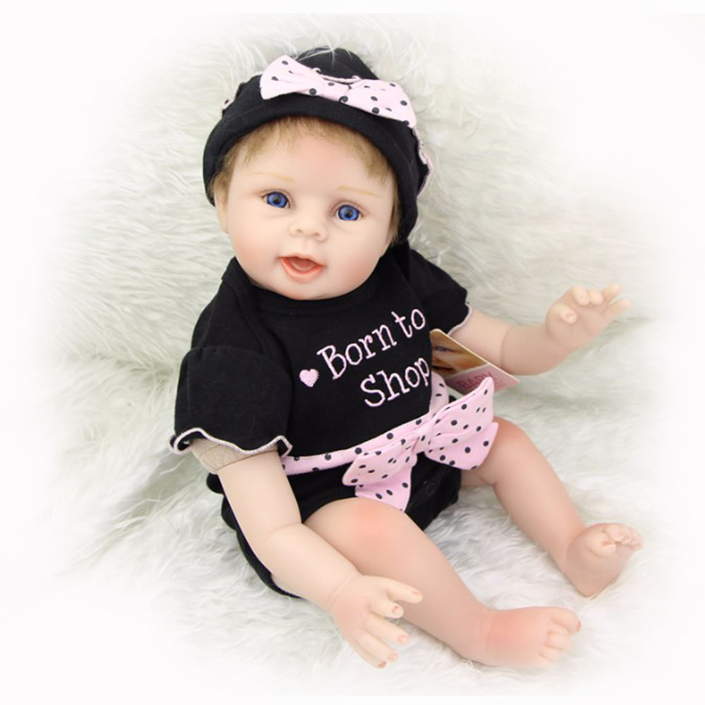 22 Inch Silicone Vinyl Reborn Doll Baby Lifelike Newborn Princess Girl Babies Doll Real Looking Boneca Kids Birthday Xmas Gift 22 inches soft silicone reborn baby dolls cloth body real looking newborn alive girl babies boneca toy kids birthday xmas gift