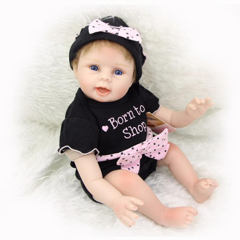 22 Inch Silicone Vinyl Reborn Doll Baby Lifelike Newborn Princess Girl Babies Doll Real Looking Boneca Kids Birthday Xmas Gift