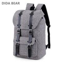 DIDA BEAR 2018 Large Capacity Man Travel Bag Women Laptop Backpack Men Bags Waterproof Oxford Shoulder
