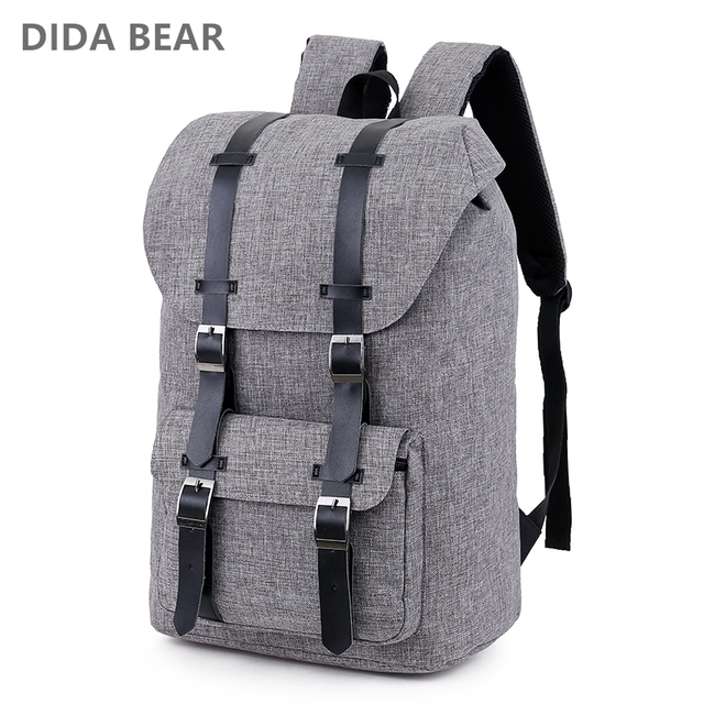 DIDA BEAR 2018 Large capacity Man travel bag Women Laptop backpack men bags  Waterproof Oxford shoulder bag Male Canvas Backpacks a73a0811f75c8