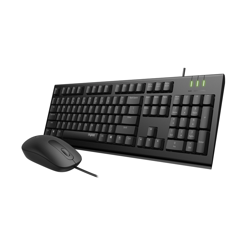 Latest Rapoo X120PRO Wired Optical Keyboard and Mouse combos for PC Computer Home Office Gaming Using