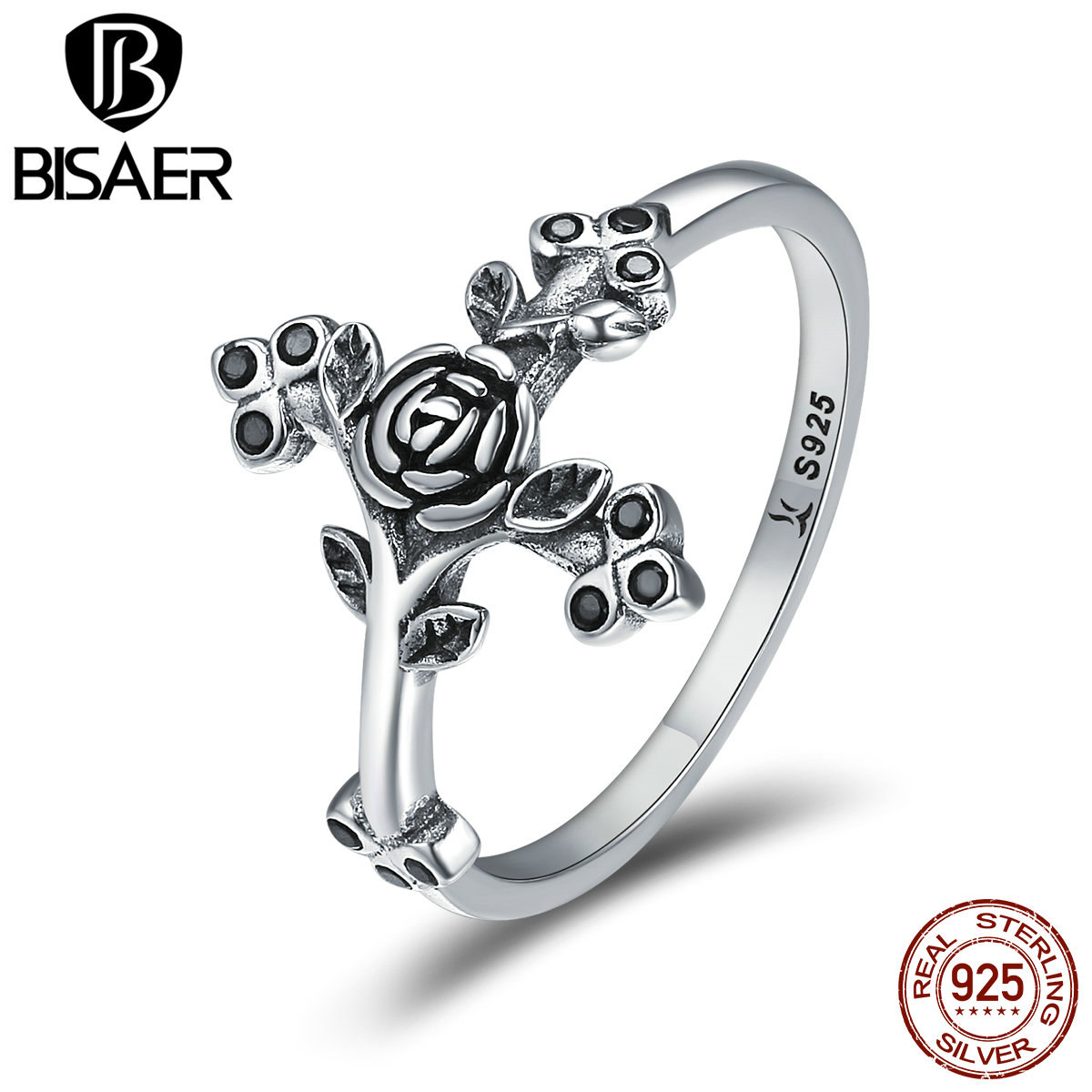 Anel Genuine 925 Sterling Silver Classic Cross Love Faith & Tree of Life Finger Rings for Women Authentic Silver Jewelry GXR179