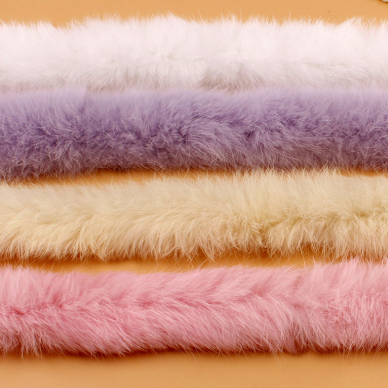 Artificial Rabbit Fur Ribbon Tapes Furry Fluffy Trim Trimming DIY Home Decor Sewing Costume Crafts 1y