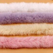 Искусственный кроличий мех ленты пушистый мех отделка DIY домашний декор Швейные костюмы ремесла 1y