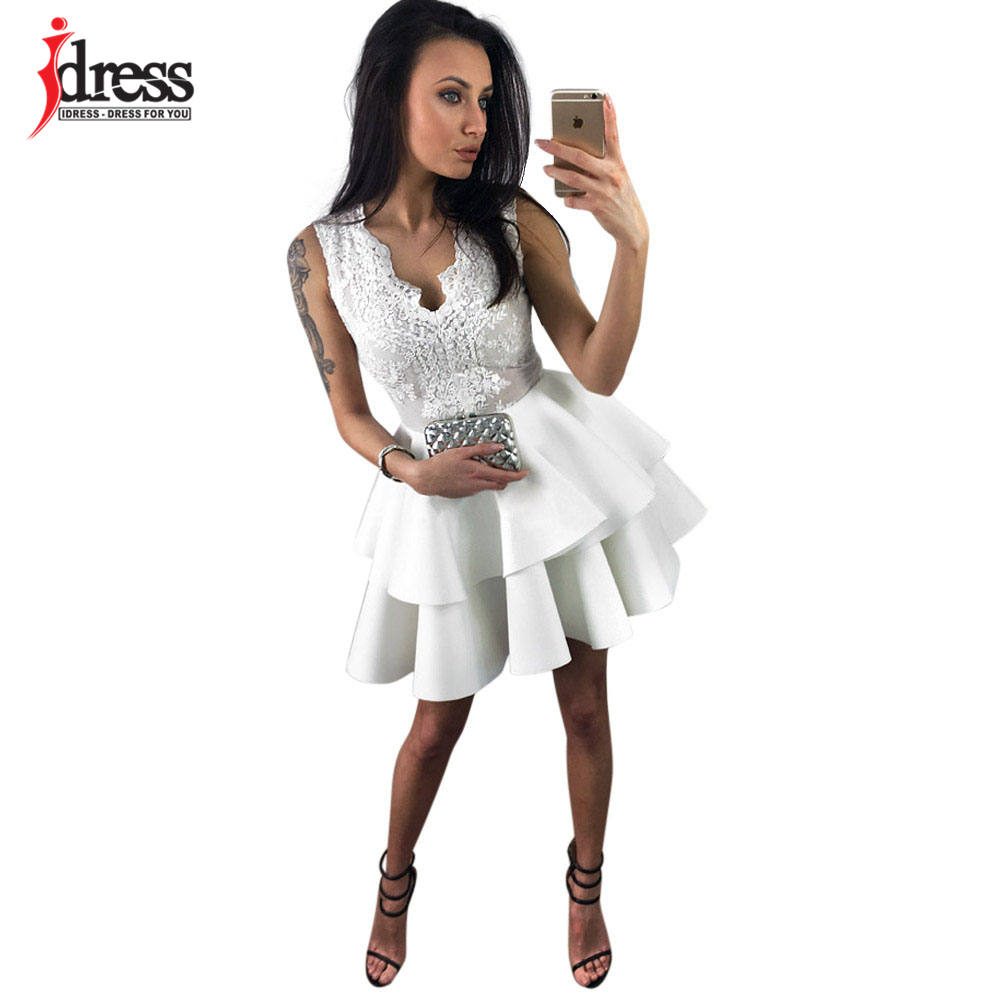 75bd2afabc IDress HIGH QUALITY 2018 Vestidos Designer Brand Dress Runway Summer Dress  Women s Lace Patchwork Ladies Cupcake