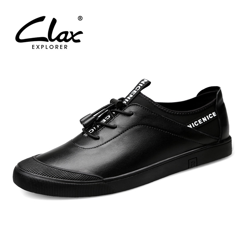 CLAX Men's Casual Shoes Fashion Spring Autumn Leather Sneakers Male Genuine Leather Walking Footwear chaussure homme Soft