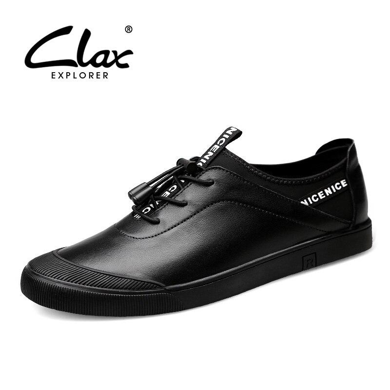 Calçado Homme Outono Calçados Homens De Dos Genuíno Black Couro Masculino Tênis Moda Casuais Chaussure Sapatos Macio Primavera Caminhada Clax BRa6qn
