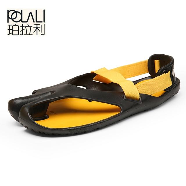 47eeb9224b4d37 POLALI summer slippers men shoes flat sandals for men zapatos de los  hombres zapatillas designer slides luxury beach flip flops