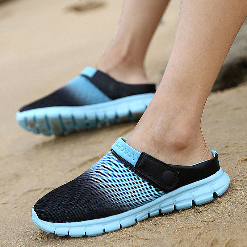 Padded Shoes Sandal Bath-Slippers Flip-Flops Beach Summer Women Breathable Flat Mesh