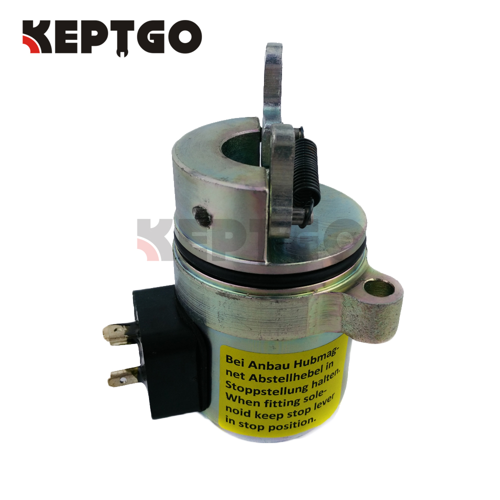 Fuel Shutoff Solenoid 04272733 For Deutz 1011 Bobcat Skid Steer 863 873 S2501FFuel Shutoff Solenoid 04272733 For Deutz 1011 Bobcat Skid Steer 863 873 S2501F